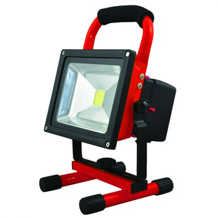 Lassen - Rechargeable portable LED Flood light with USB IP 65 256x182x170 20W 4000K 1000lm 120° red