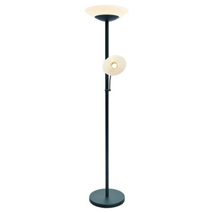 Carpo - LED-Stehlampe mit leselampe Ø400x1810 42+4.5W 3000K 3600+400lm 120° schwarz Dim