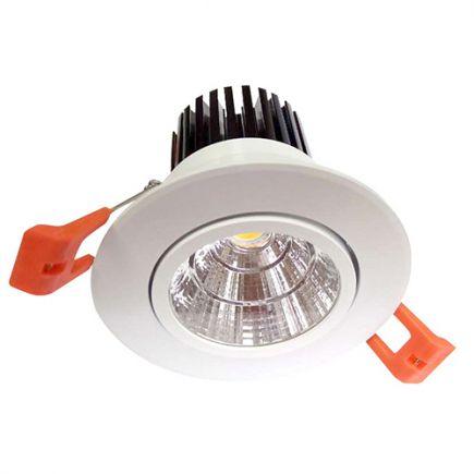 Cavell - Kippbares LED-einbau-Downlight Ø85 x 80 ein.Ø75 10W 3000K 850lm 24° weiß