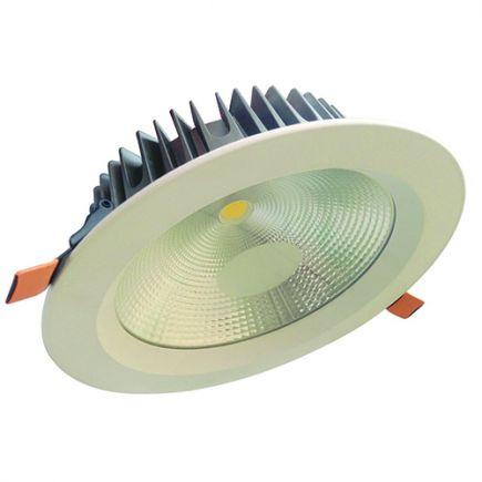 Alhena - Kippbares LED-einbau-Downlight Ø230x72 ein.Ø200 25W 3000K 2130lm 108° weiß