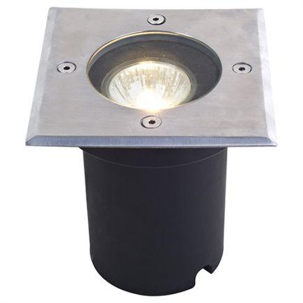 Kastra - buried light 120x120x128 GU10 35W max. silver