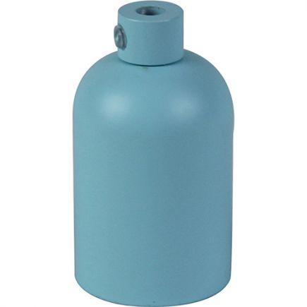 Douille E27 aluminium ø42mm H.62mm bleu clair mat