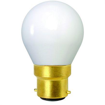Sphérique G45 Filament LED 4W B22 2700K 400Lm Milky