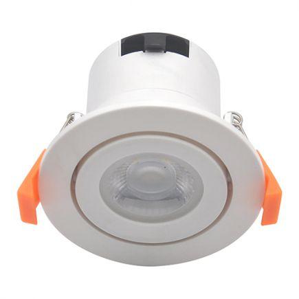 Spot LED Orientable plast D87mm H65mm IP65 6W 4000K 600lm dim Class II