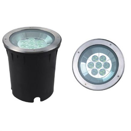 Kastra - LED Bodeneinbauleuchte IP67 Ø250 x 267 ein.Ø245mm 35W 4000K 2000lm 33° silber