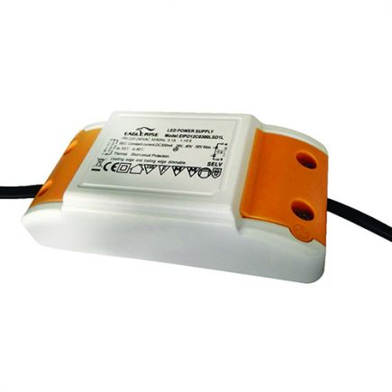 Triac dimmable driver for LED Downlight 100x48x27 12W white Dim