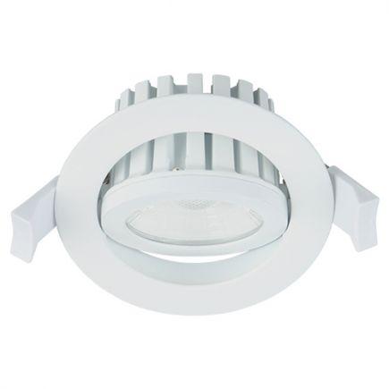 Cavell - Kippbares LED-einbau-Downlight IP 65 Ø86 x 75 ein.Ø75 10W 4000K 900lm 45° weiß