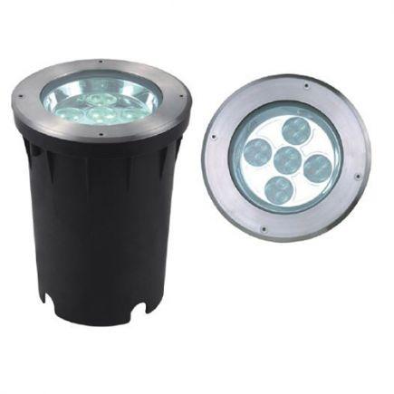 Kastra - LED Bodeneinbauleuchte IP67 Ø193 x 248ein.Ø190mm 26W 4000K 1750lm 10° silber