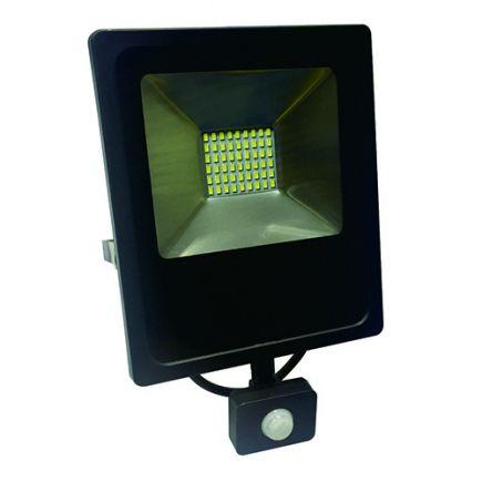 Isonoe - EcoWatts -LED Projektor-Leuchte IP 65 235x64x285 50W 3000K 4000lm 120° schwarz