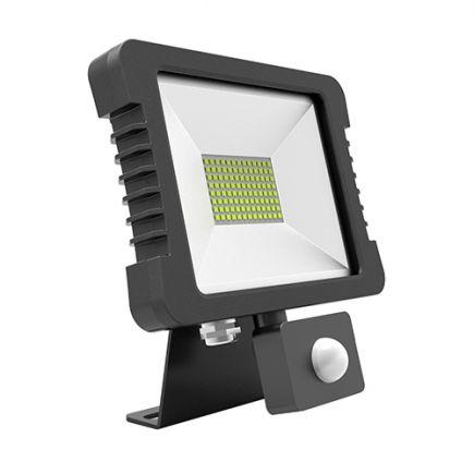 Yonna - LED Projektor-Leuchte IP 65 200x228.5x34.5 30W 4000K 2280lm 110° schwarz PIR