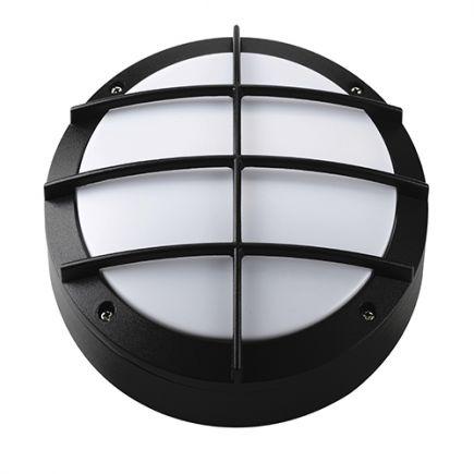 Gredi - Außen-Wandlampe Ø220x80 E27 60W max. schwarz