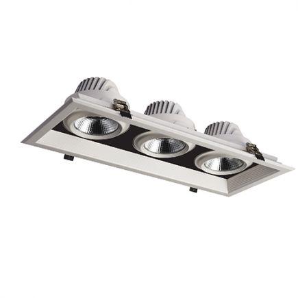 Jay - Downlight mit mehreren LED 502x200x107 ein.475x175 3x30W 4000K 8100lm 36° weiß