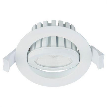Cavell - Kippbares LED-einbau-Downlight IP 65 Ø86 x 75 ein.Ø75 10W 3000K 850lm 45° weiß