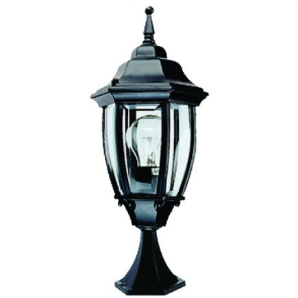 Val I - Außen-Wandlampe 155x155x480 E27 60W max. schwarz