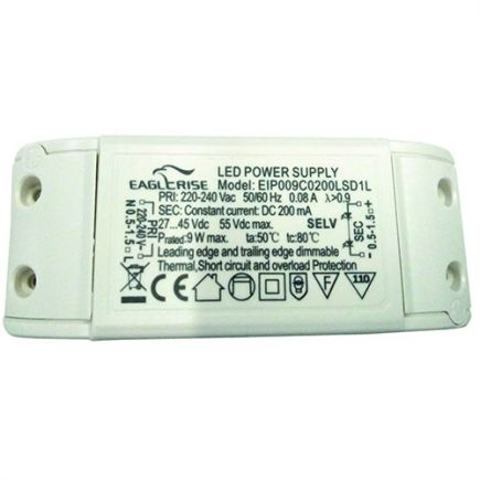 Treiber mit dimmer für LED Downlight 105x42x24 7W Triac Dim weiß Dim
