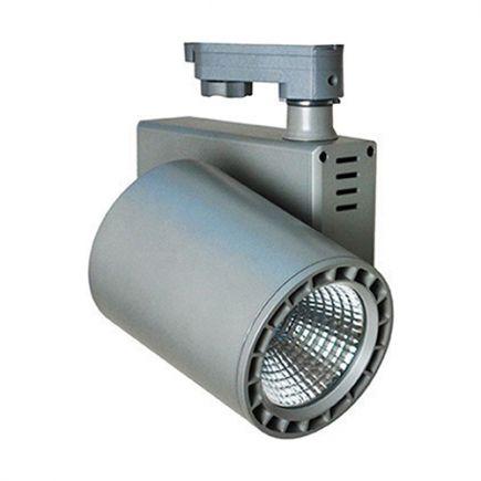 Jacinto - LED Schienenstrahler Ø99 x 148 35W 4000K 3150lm 36° grau