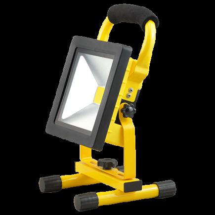 Isonoe - EcoWatts - LED Projektor-Leuchte tragbar IP 65 298x160x184 20W 4000K 1000lm 120° gelb