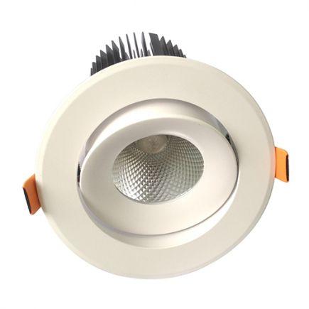 Cavell - LED-einbau-Downlight Ø142x118 ein.Ø110 25W 4000K 2250lm 36° weiß