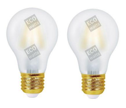 FS Ecowatts - Lot de 2 Ampoules Filament LED - Standard A60 4W E27 2700KMat 3125469987031