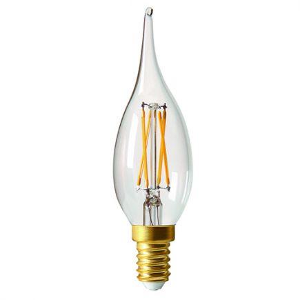 Candle GS4 Filament LED 5W E12 2700K 520Lm Dim. Cl.