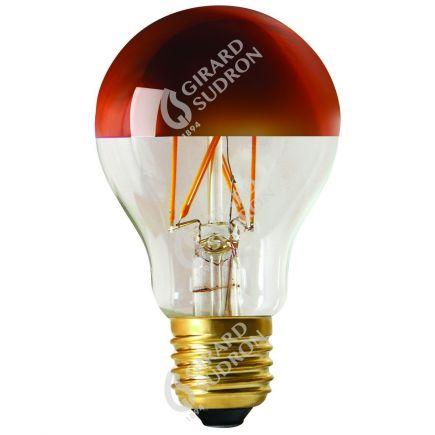 """Standard A60 Leuchtfaden LED """"Kopfverspiegelt Bronze"""" 6W E27 2700K 750Lm Dim."""