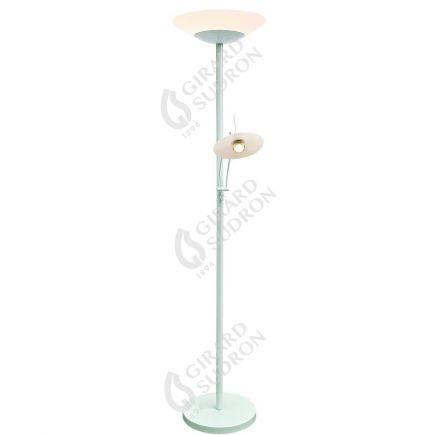 Carpo - LED-Stehlampe mit leselampe Ø400x1810 42+4.5W 3000K 3600+400lm 120° weiß Dim