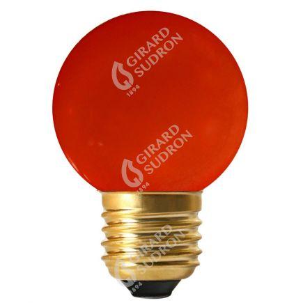 Bunte Miniglobe LED 1W E27 30Lm Rot