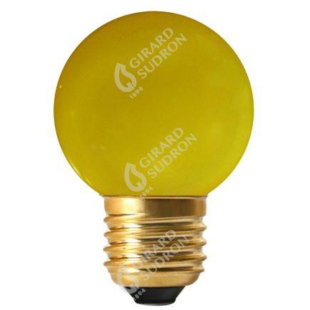 Bunte Miniglobe LED 1W E27 30Lm Gelb