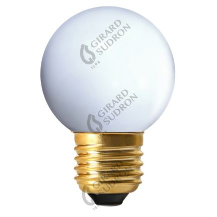 Bunte Miniglobe LED 1W E27 4000K 80Lm Weiß