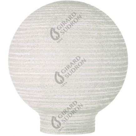 Glaskörper Globe D80 Gewinde 31,5mm Milchig geriffelt