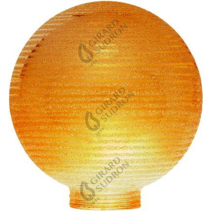 Glaskörper Globe D100 Gewinde 31,5mm Berns. geriffelt