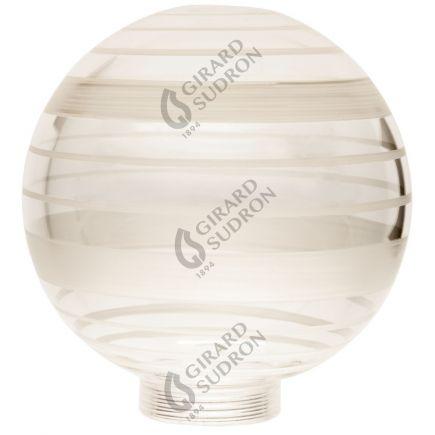 Glaskörper Globe D100 Gewinde 31,5mm Claire geriffelt