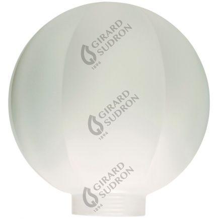Glaskörper Globe D100 Gewinde 31,5mm Facetten weiss