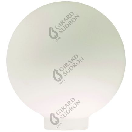 Glaskörper Globe D100 Gewinde 31,5mm Milchig