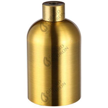 Douille aluminium E27 lisse dorée