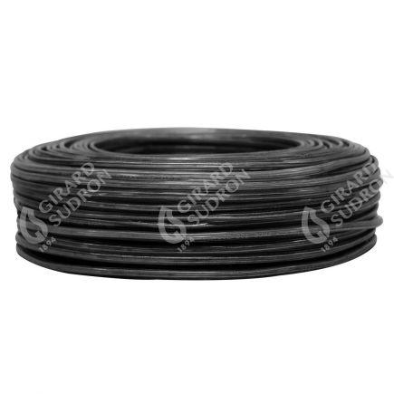 Câble PVC ovale double isolation 2 x 0.5mm² L.100m noir