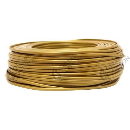 Câble PVC ovale double isolation 2 x 0.5mm² L.100m or