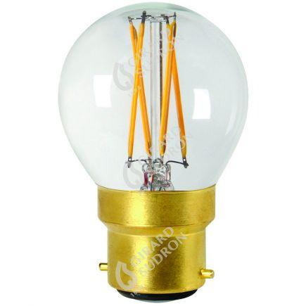 Sphérique G45 Filament LED 5W B22 2700K 520Lm Dim. Cl.