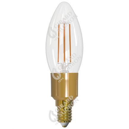 Flamme Lisse C35 Filament LED 6W E14 2700K 806lm Dim. Clear