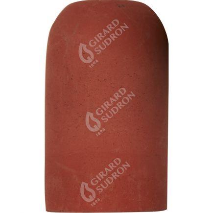Douille E27 béton ø52mm H.82mm rouge brique