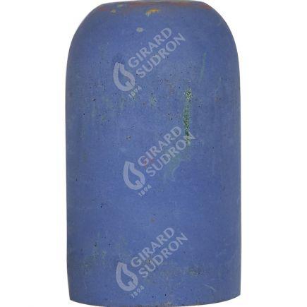 Douille E27 béton ø52mm H.82mm bleu clair