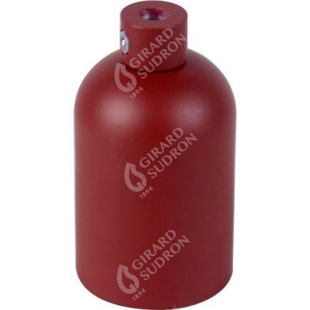 Douille E27 aluminium ø42mm H.62mm rouge brique mat