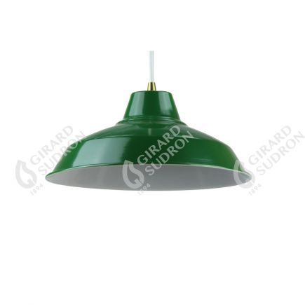 Abat-jour métal industriel ø270mm vert sapin satiné