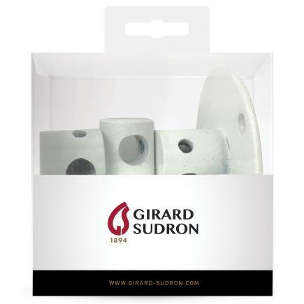 Crochet métal base ø45mm blanc x 3