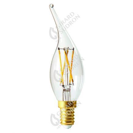 Flammen CV4 Leuchtfaden LED 4W E14 2700K 320Lm Dim. Kl.