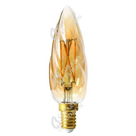 Flammen F6 Leuchtfaden LED 4W E14 2500K 280Lm Dim. Berns..