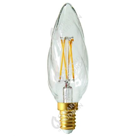 Candle F6 Filament LED 5W E12 2700K 520Lm Dim. Cl.