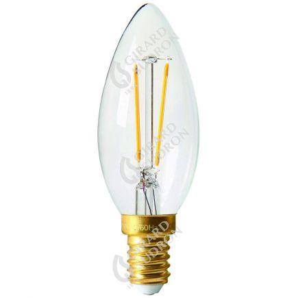 Flammen C35 Leuchtfaden LED 2W E14 2700K 220Lm Kl.