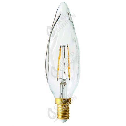 Flammen GS8 Leuchtfaden LED 2W E14 2700K 220Lm Kl.