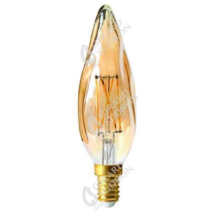 Candle GS8 Filament LED 4W E14 2500K 280Lm Dim. Amb.